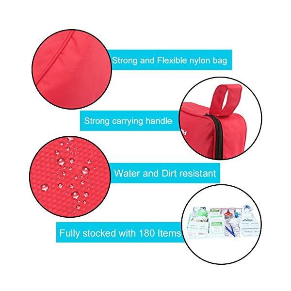 Botiquín de Primeros Auxilios de 180 Piezas WEINAS® Kit de Primeros Auxilios Súper Compacto y Profesional para Hogar… 3