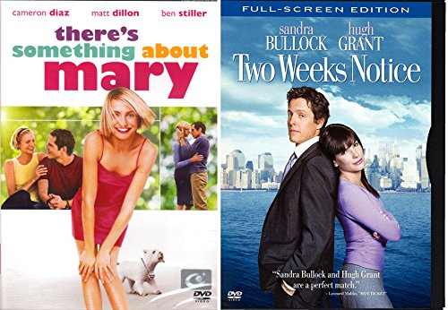 Two Weeks Notice + Something about Mary DVD Double Feature Fun Romantic Comedy movie Set Combo Edition