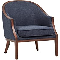 Stone & Beam Ashbury Modern Exposed Wood Accent Chair, 29W, Navy
