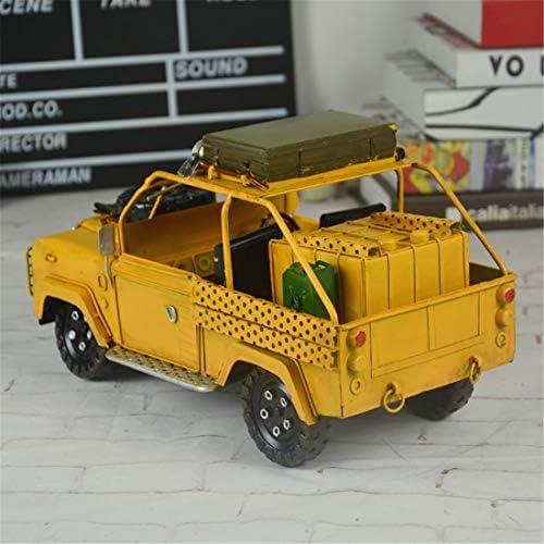 VJUKUB Fer Land Rover Véhicule Militaire Modèle Main Made Antique Rétro Iron Art Home Voiture Décoration Décoration Arrangement Photographie Props 30 * 14 * 17Cm