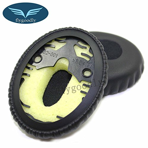 Replacement Pair of Ear Pads Ear Cushion for Bose QuietComfort 3 QC3 & On-Ear OE Headphones Ear Cups Ear Cover Earpads Repair Parts(Black)