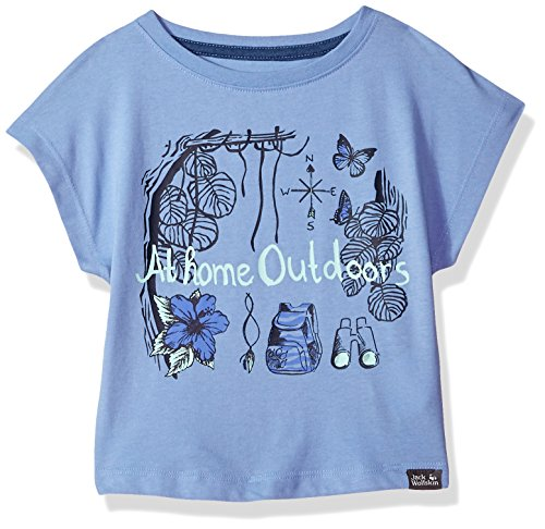 Jack Wolfskin Girl's Brand T T-Shirt Short Sleeve, 152 (11-12 Years Old), Pale Purple by Jack Wolfskin