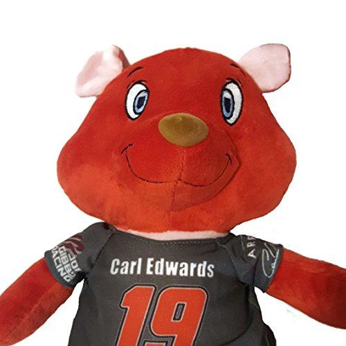 #19 Carl Edwards NASCAR 13 inch Teddy Bear with T-shirt Stuffed Animal Plush Toy