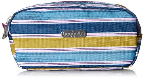 Baggallini Square Cosmetic Case, Tropical Stripe