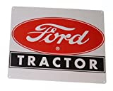 """Ford Tractor Retro, Vintage, Nostalgic Look 12"""" x 15"""" Tin Sign for Wall"""