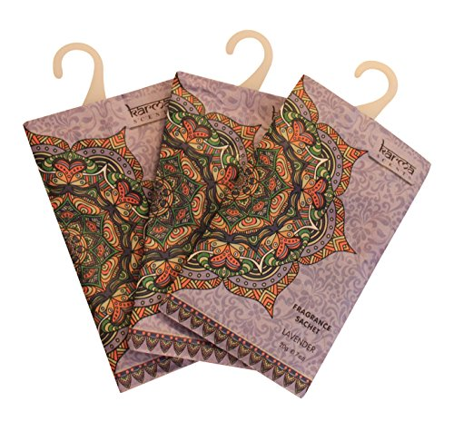 Lavender Fragrance Sachet - Premium Lavender Scented Sachets for Drawers, Closets and Cars, Lovely Fresh fragrance, Lot of 12 Bags, By Karma Scents