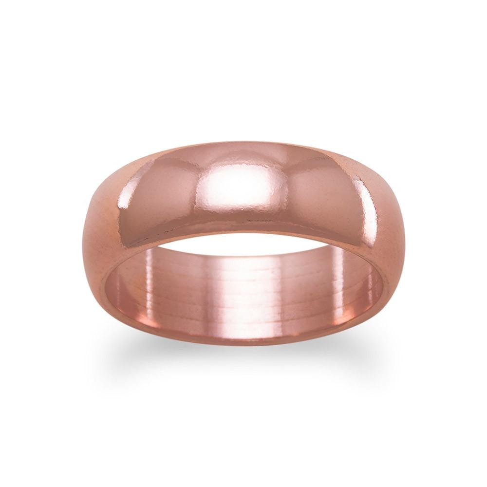 Amazon.com: West Coast Jewelry 6mm Solid Smooth Copper Wedding Band ...