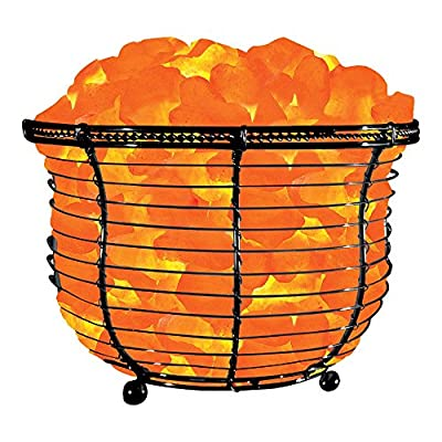 Accentuations by Manhattan Comfort Himalayan Wired 1.0 Basket Lamp with Rocks