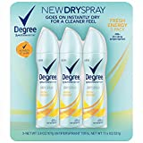 Degree MotionSense Dry Spray Fresh Energy Antiperspirant, 3 pk./3.8 oz. (pack of 6)