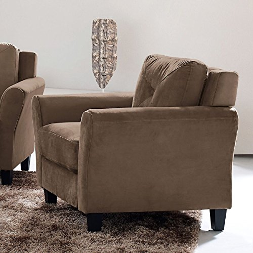 Pearington Merango Brown Microfiber Club Chair Brown Microfiber Club Chair