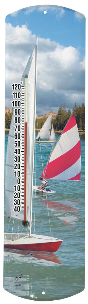 Heritage America by MORCO 375SAIL Sailboat Outdoor or Indoor Thermometer, 20-Inch