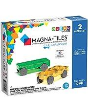 Magna-Tiles 2-delige auto-uitbreidingsset - de originele, bekroonde magnetische bouwtegels - creativiteit en educatief - STEM goedgekeurd