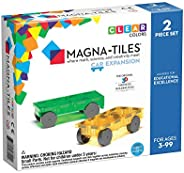 Magna-Tiles Cars Expansion Set, The Original Magnetic Building Tiles For Creative Open-Ended Play, Educational