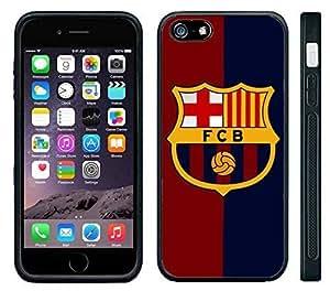 Super Apple iPhone 6 Rubber Silicone Case - Barcelona FCB Soccer Futsal Futbol club Messi FC