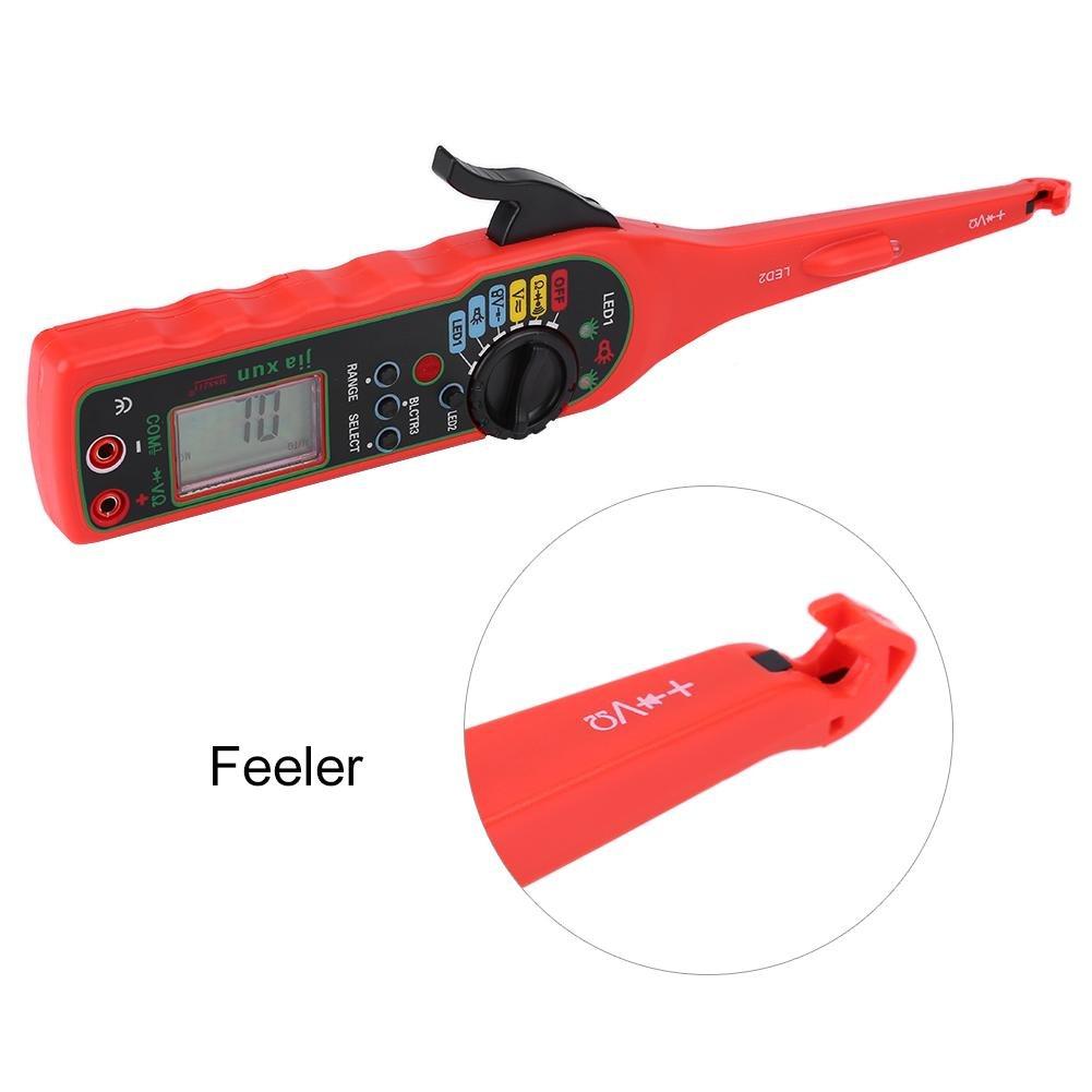 rouge Qiilu Auto Circuit Testeur Multim/ètre Lampe De Voiture De R/éparation Automobile /Électrique Outil De Diagnostic