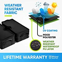 Rhino Round Umbrella Base Weight with Side Slot Opening Cantilever /& Any Outdoor Patio Umbrella Stand ~ Easy Set up Black 18 ~ Fits Any Offset