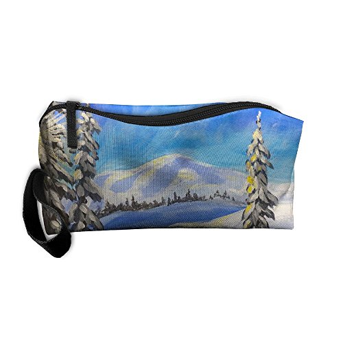 Portable Makeup Cosmetic Storage Bag Appropriate Capacity Organization Pouch With Handle Snow - In Erie Shopping Pa