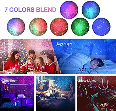 Home Theater Night Light Projector with Remote Control Party,Gris YMJJ Galaxy Starry Sky Projector Star Projector Galaxy Projector for Bedroom Game Rooms