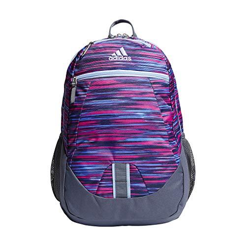 - adidas Foundation Backpack, Shock Pink Sunset/Glow Blue/Onix, One Size