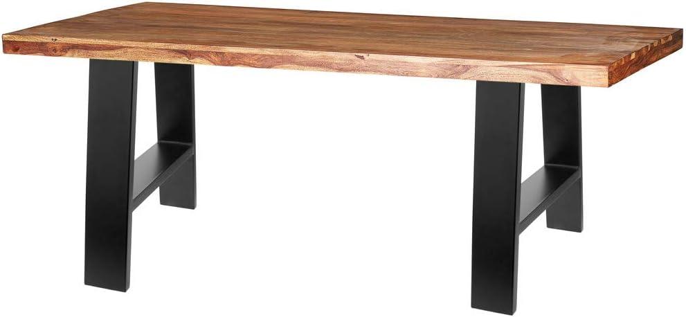 Pieds rectangulaire de Petite Table et Banc en Acier 400 x 80 x 430 mm 2-Pack PrimeMatik