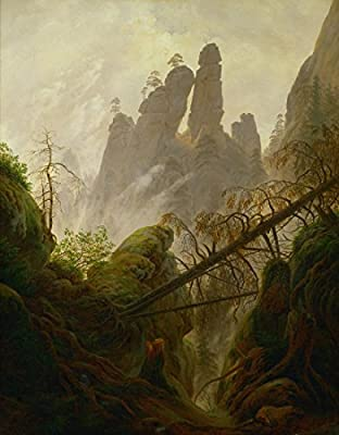 Rocky Ravine by Caspar David Friedrich. 100% Hand Painted. Oil On Canvas. Reproduction. (Unframed and Unstretched).