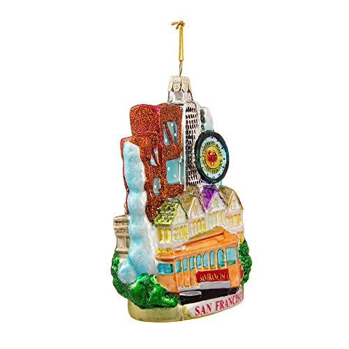 Kurt Adler C4106 San Francisco Glass Cityscape Ornament, 5-Inch