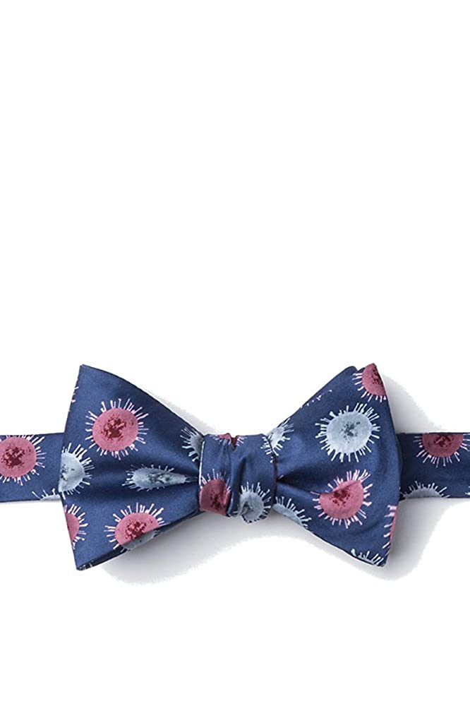Mens 100/% Silk Blue Zika Virus Medical Doctor Self Tie Butterfly Bow Tie