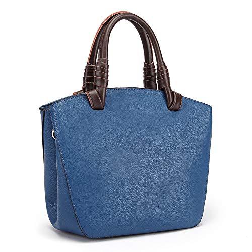 épaules à Version à à des Main Coréenne Sauvage Messenger Nouveaux en YXLONG Bag Cuir Mode Marée Sacs Main Sac Main blue Sacs naF6x4qw