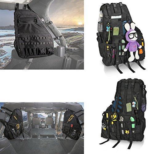 - Bosmutus Product Name TJ Bag Roll Bar Storage Bag Cage for 1987-2018 Jeep Wrangler YJ TJ JK with Multi-Pockets Organizers Cargo Bag Saddlebag - (Storage Package)