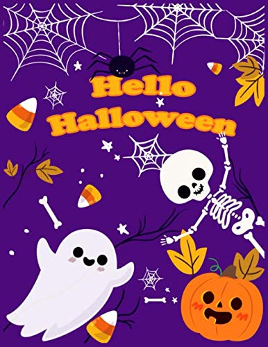 Halloween Worksheet For Kids (Hello Halloween: basic Kindergarten Basics Workbook : Fun activities math skills for kindergarten)