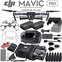 DJI Mavic Pro Quadcopter Drone with 4K Camera - 2 Battery Advanced Bundle