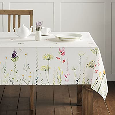 Maison d' Hermine Botanical Fresh 100% Cotton Tablecloth 60 Inch by 108 Inch - Designed in France 100% Cotton and machine washable Package includes - 1 Tablecloth - tablecloths, kitchen-dining-room-table-linens, kitchen-dining-room - 51N5 AApoQL. SS400  -