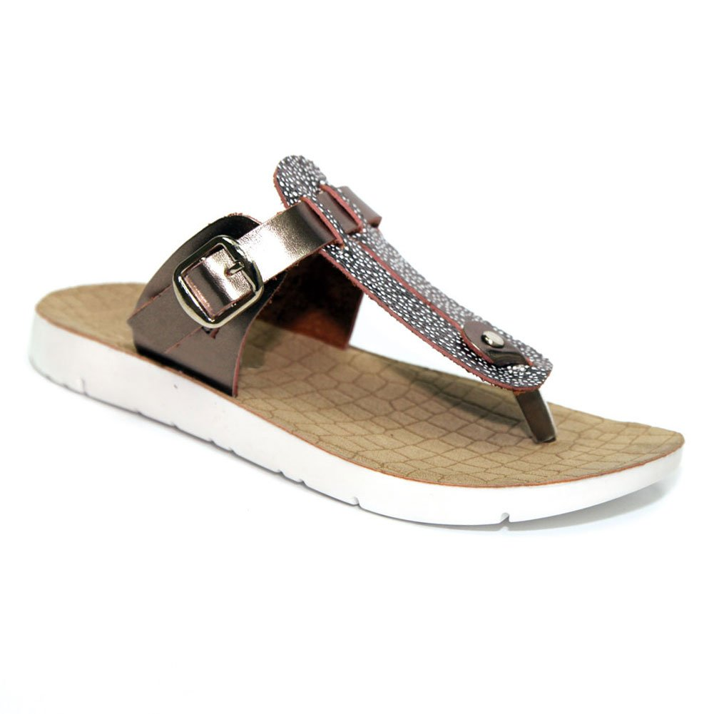 00b5337aa705e ... Flop Sandal Walking White Wedge Vegan Leather T-strap with Buckle Round  Toe Colorful Casual Summer Burkinstock Zapatos Sandalia Shoe for Sale Women  Girl ...