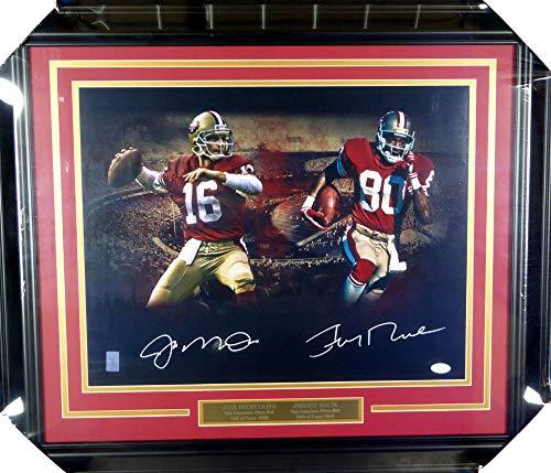 Joe Montana & Jerry Rice Autographed Framed 16x20 Photo San Francisco 49ers JSA