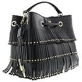 Class Roberto Cavalli Black Bucket Bag Natalie 001