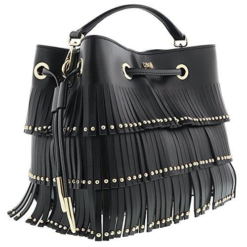 Class Roberto Cavalli Black Bucket Bag Natalie 001 by Roberto Cavalli