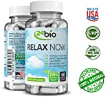 24bio Relax Now Complex Formula- Anxiety and Stress Relief Supplement Mood Booster for Women with Rhodiola Rosea, Gotu Kola, Mental Anti Depression Valerian Root Extract Vitamin B, Magnesium Calming