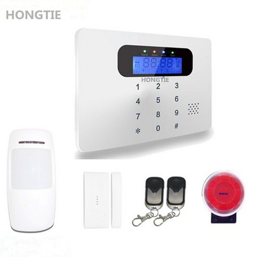 Wireless Home Security Alarm System Kit with PIR Detector and Door Window Sensor,GSM SIM Card Burglar Alarm Outdoor Siren