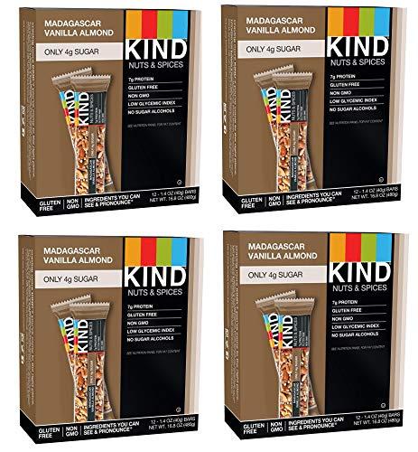 KIND Bars, Madagascar Vanilla Almond, Gluten Free, Low Sugar, 1.4oz, 48 Bars by KIND (Image #1)
