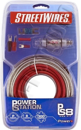 8 AWG Power Kit with Interconnects in Red by Streetwires