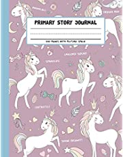 Primary Story Journal - Unicorn Squad: Grades K-2 Draw and Write Composition Book with Dotted Midline and Picture Space for Early Childhood, Kindergarten and Preschool