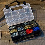 Portable Storage Case with Secure Locks and 14