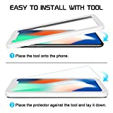 SPARIN iPhone X Screen Protector, (2 Pack) Tempered Glass for iPhone X / 10 with Double Shielding / Applicator Tool / Case Friendly