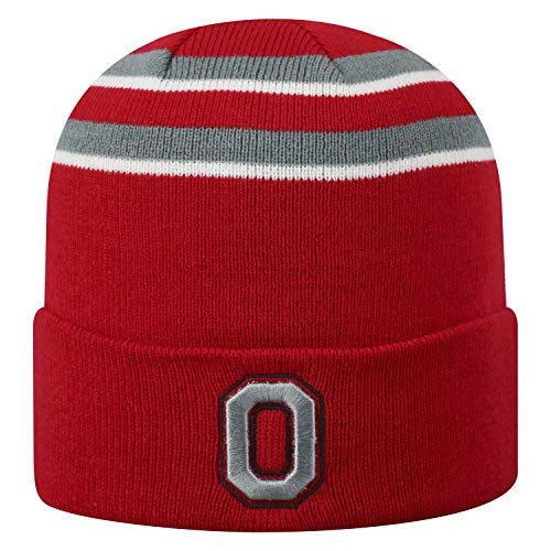 best service 96480 3bcf6 ... discount top of the world ohio state buckeyes official ncaa cuffed knit  b2b cuff hat 744384