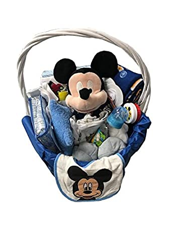 Amazon mickey mouse newborn baby boy gift set basket 0 6 mickey mouse newborn baby boy gift set basket 0 6 months negle Images