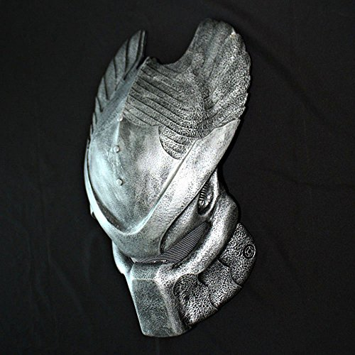 1:1 Full Scale Prop Replica Predator Helmet Halloween Costume Wall Mask Home Decor Ancient Temple Guard PD17 (Prop Predator Mask)
