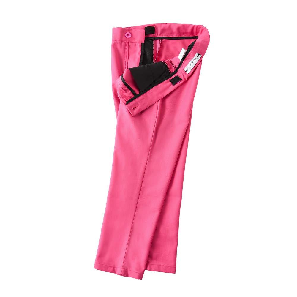 Yuanlu 4 Piece Boys Formal Suit Set with Vest Pants Dress Shirt and Tie
