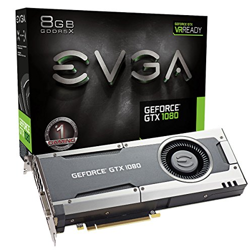 51N52DNmnWL - EVGA GeForce GTX 1080 Founders Edition, 8GB GDDR5X, LED, DX12 OSD Support (PXOC) Graphics Card 08G-P4-6180-KR
