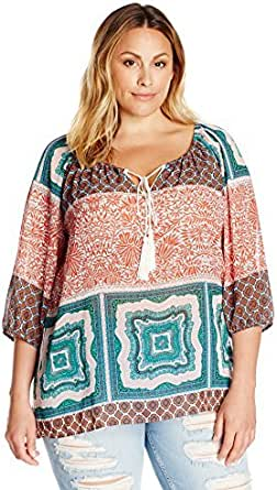 Single Dress Women's Plus Size Peasant Top