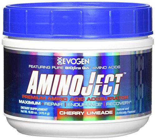 Evogen Aminoject 30 Servings Amino Acids, Cherry Limeade, 16.8 Ounce